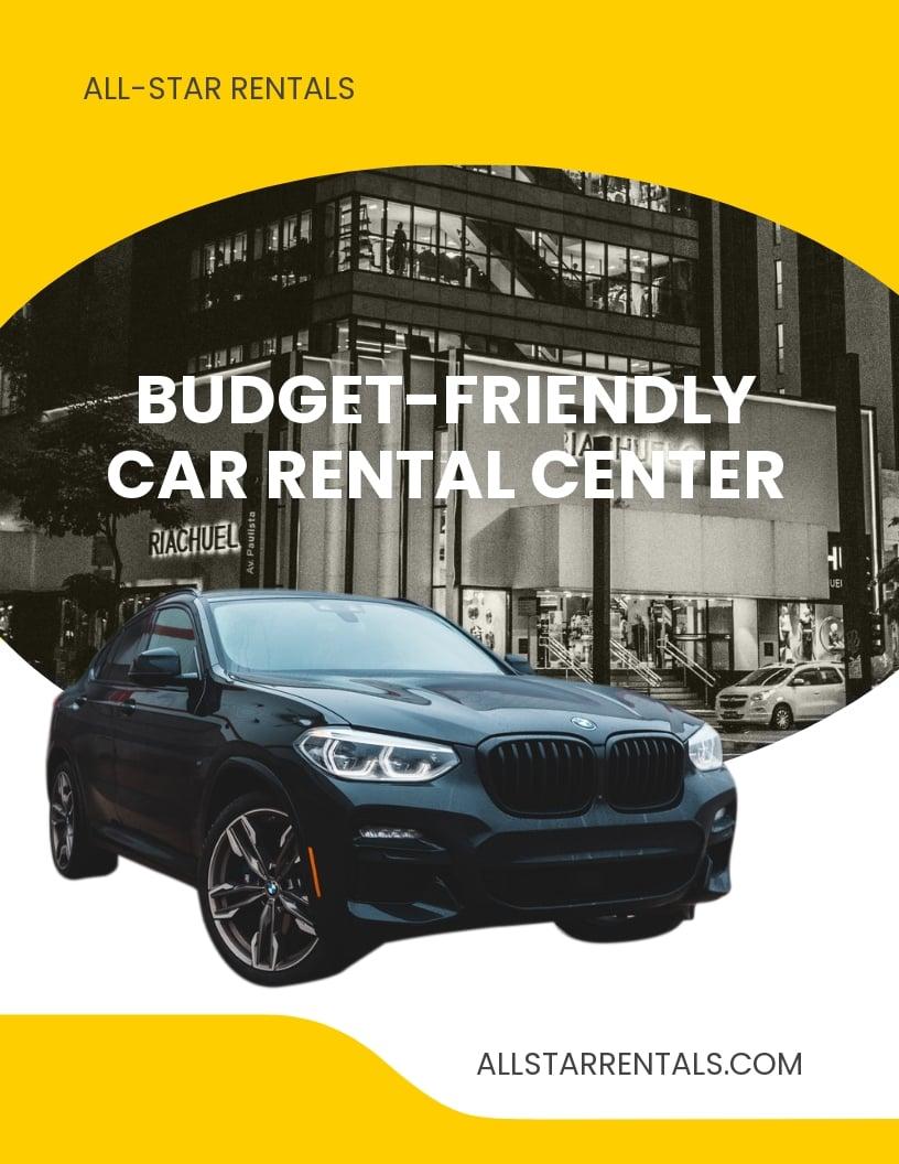 Budget Car Rental Flyer Template.jpe
