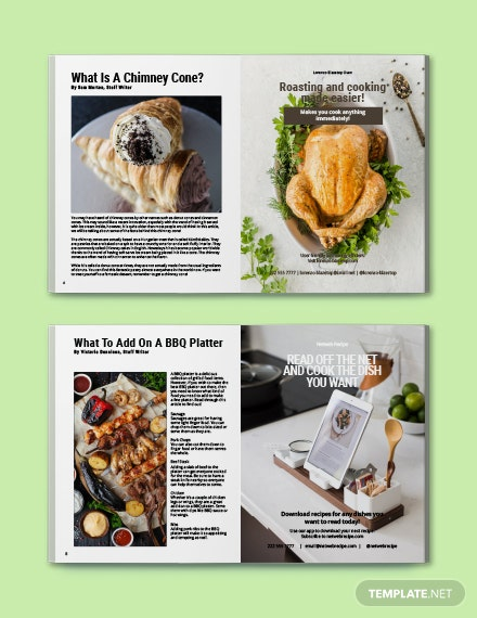 Free Simple Cooking Magazine Template