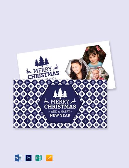 Free Christmas Greeting Card Template