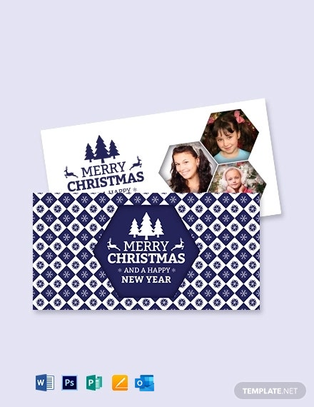 Free Christmas Greeting Card Template