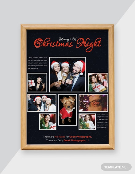 Free Christmas Night Part Photo Card Template