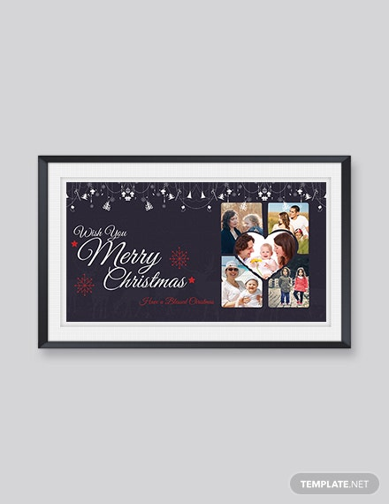 Free Simple Merry Christmas Card Template