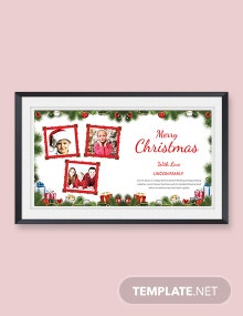 Free Creative Christmas Photo Card Template