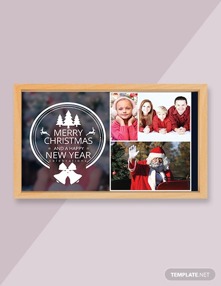 Free Christmas Family Photo Card Template