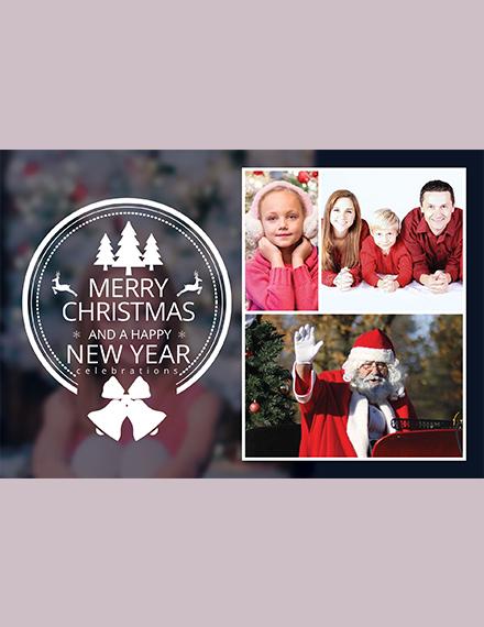 Simple Christmas Family Photo Card Template