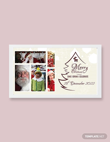 Free Modern Christmas Photo Card Template
