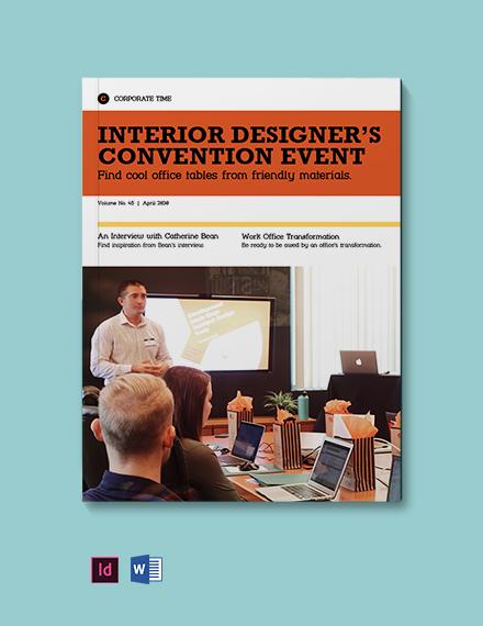 Corporate Interior Design Magazine Template