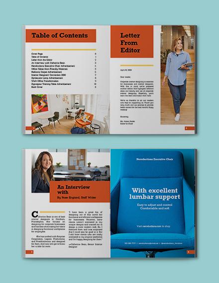 Sample Corporate Interior Design Magazine