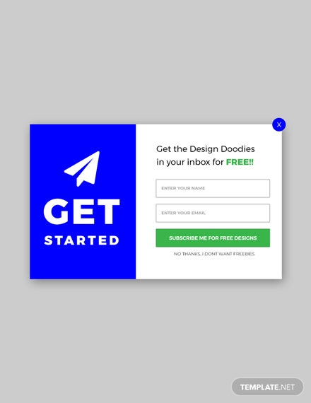 Free Website Pop-up for Download Template