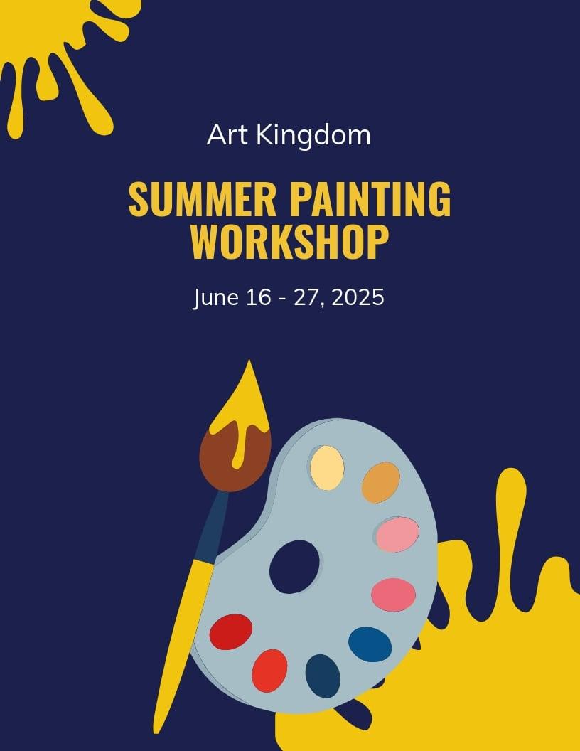 Painting Workshop Flyer Template.jpe