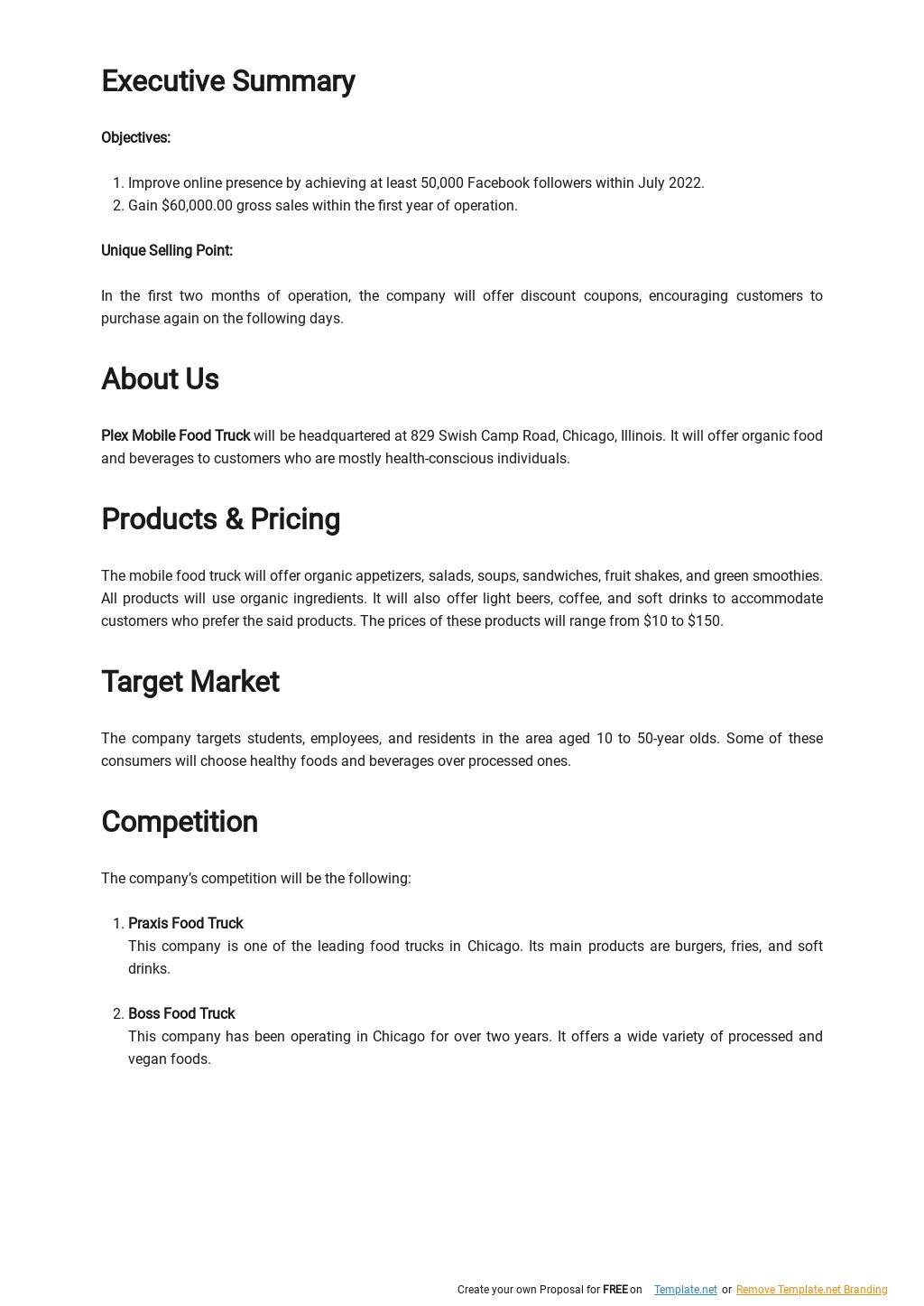 Mobile Food Truck Business Plan Sample 1.jpe