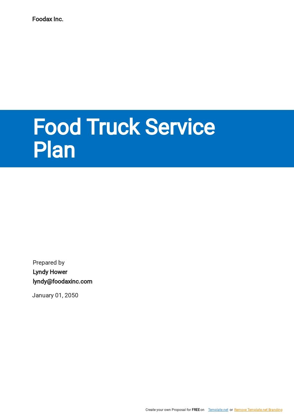 Free Food Truck Service Plan Template.jpe