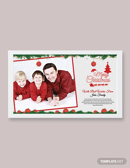 Free Christmas Wishes Photo Card Template