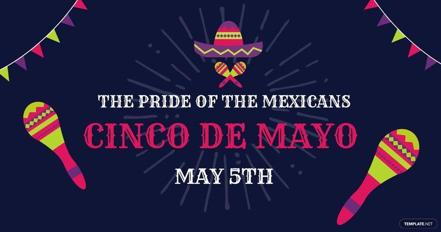 FREE Cinco De Mayo Party Facebook Post Template