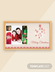 Free Merry Christmas Family Photo Card Template