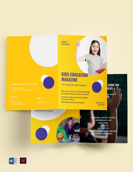 Kids Education Magazine Template