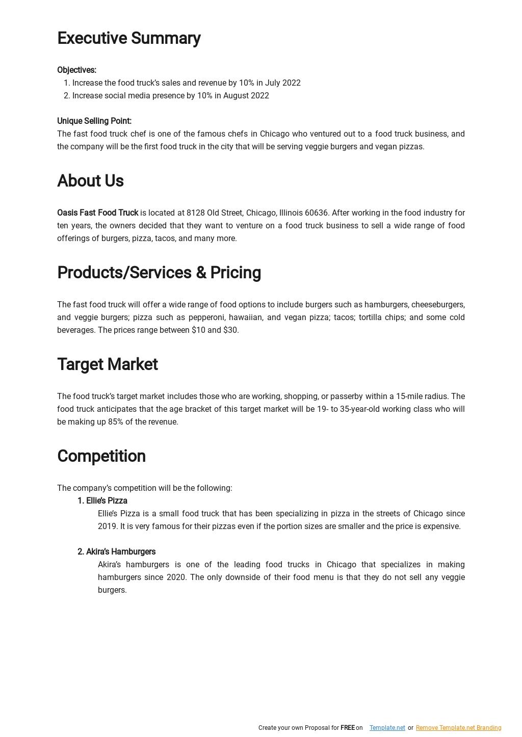 Fast Food Truck Business Plan Sample 1.jpe