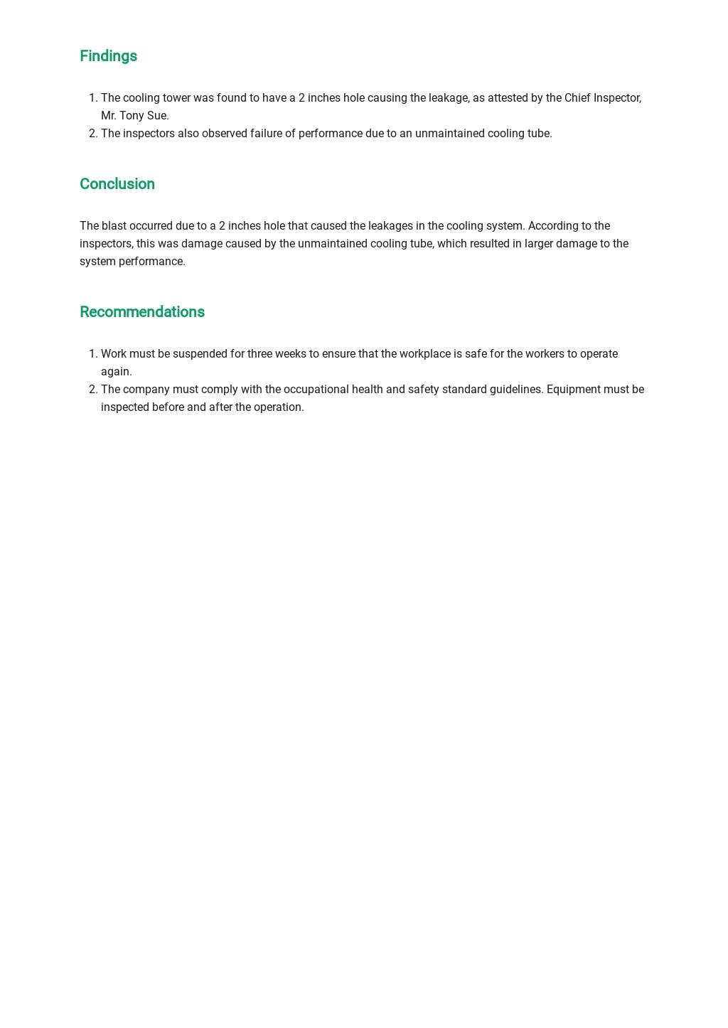 Free Equipment Incident Report Template 2.jpe