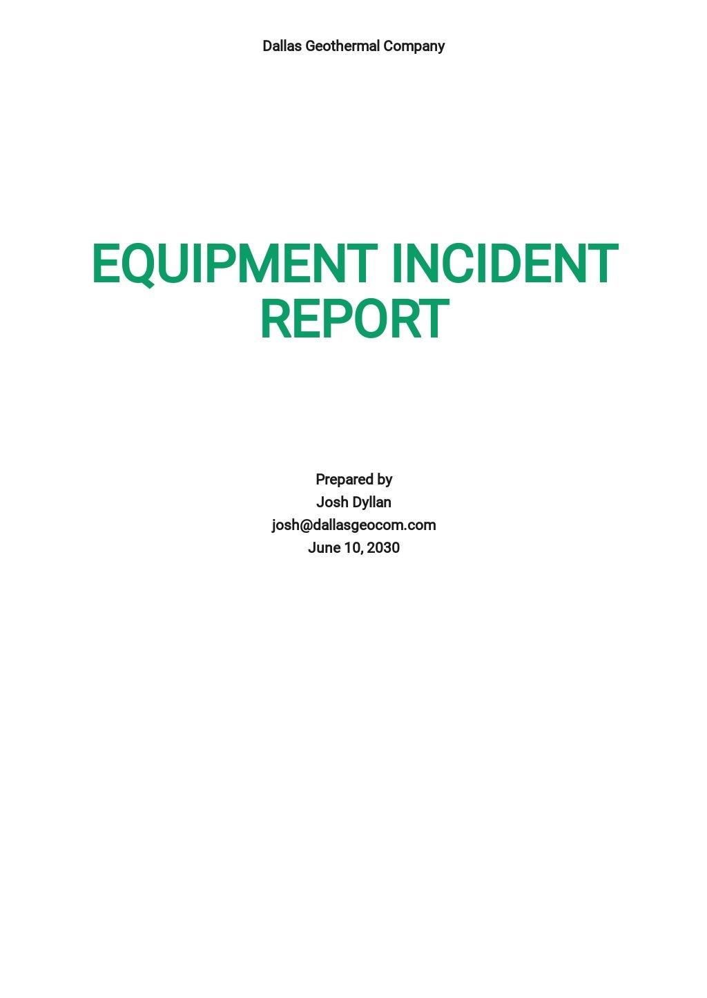 Free Equipment Incident Report Template.jpe