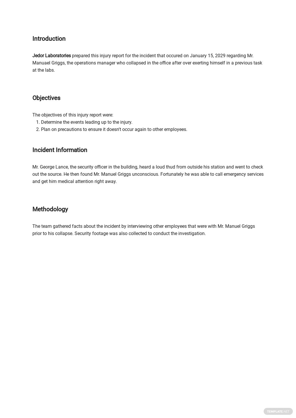 Free Injury Incident Report Form Template 1.jpe