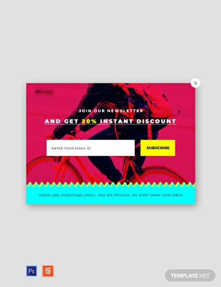 Free Website Newsletter Pop-up Template