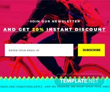 Free Website Newsletter Pop-up Template