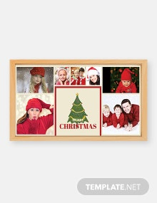 Free Photography Christmas Photo Card Template