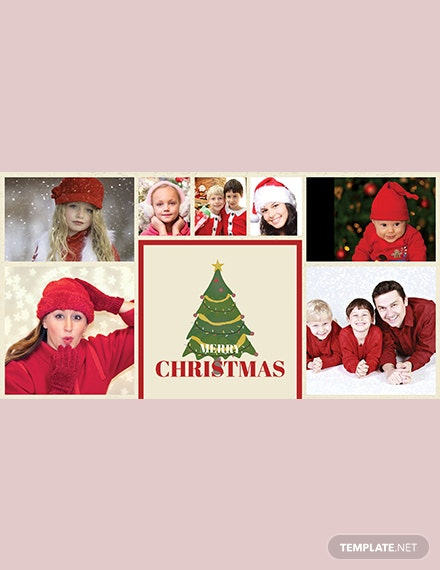 Photography Christmas Photo Card Template