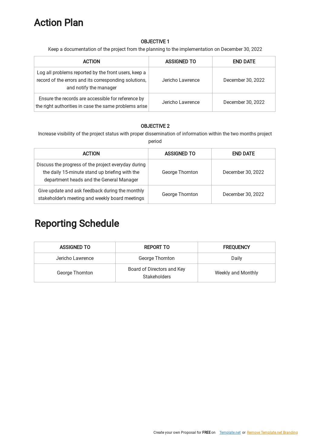 Free Sample Project Management Communication Plan Template 2.jpe