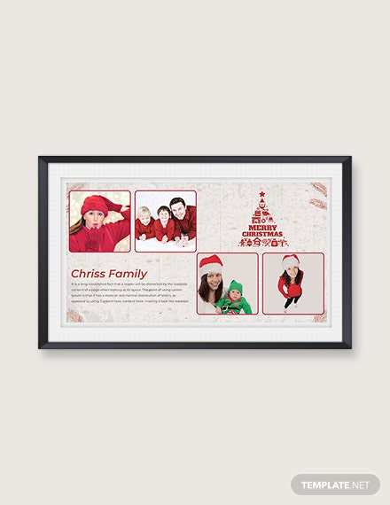 Free Modern Christmas Family Photo Card Template
