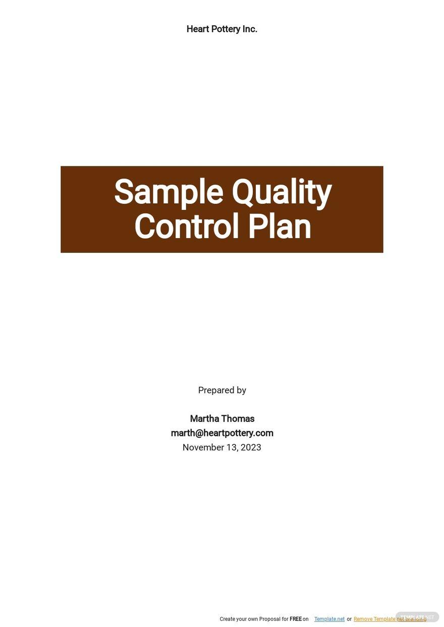 Sample Quality Control Plan Template.jpe