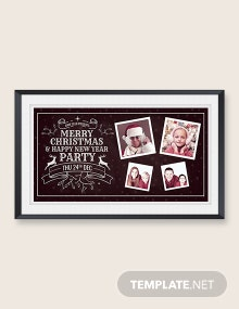 Free Chalkbaord Christmas Photo Card Template
