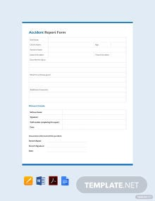 Free Accident Report Form template