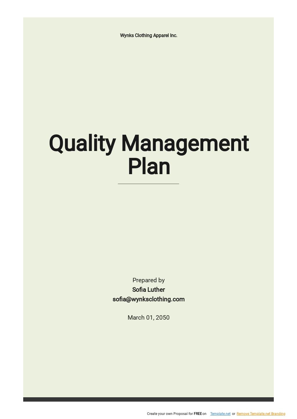 Sample Quality Management Plan Template.jpe