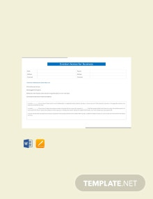Free Eviction Notice for Business Template