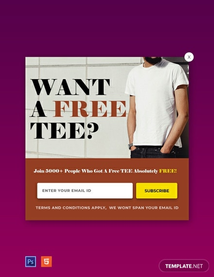 Free Website Notification Pop-up Template