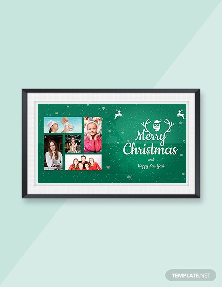 Free Elegant Christmas Family Photo Card Template