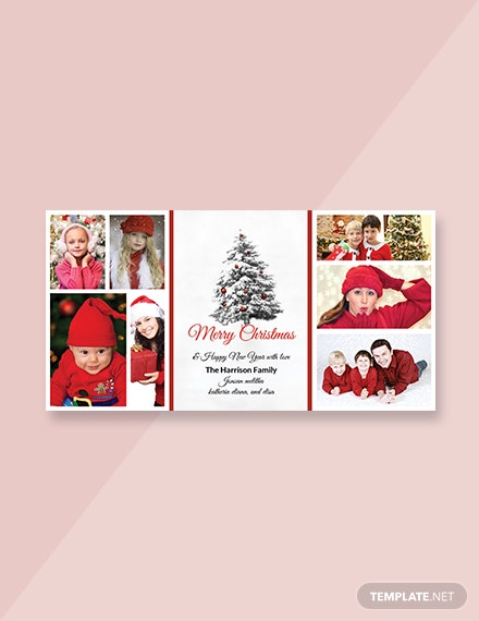 Free Christmas Holiday Photo Card Template