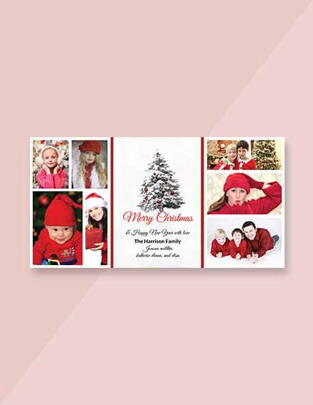 Christmas Holiday Photo Card Template