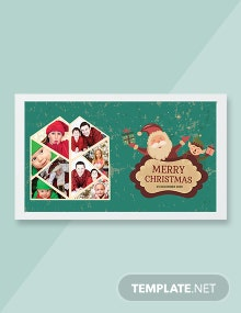 Free Floral Christmas Photo Card Template