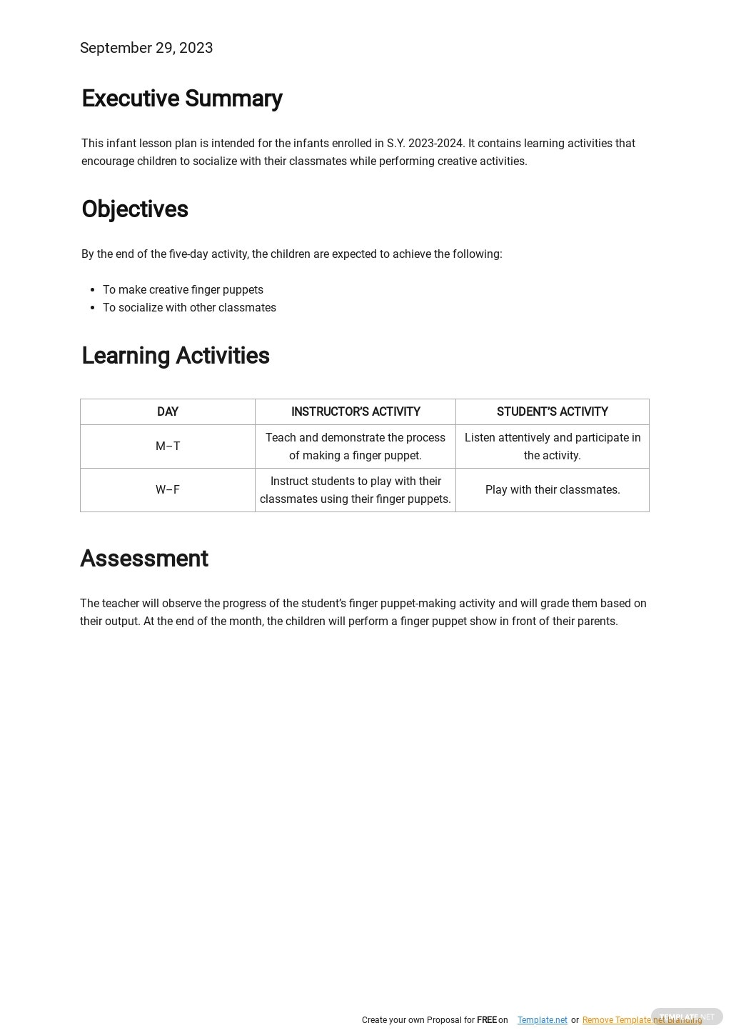 Free Blank Infant Lesson Plan Template 1.jpe
