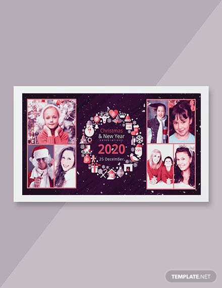 Merry Christmas Photo Card Template