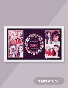 Free Merry Christmas Photo Card Template