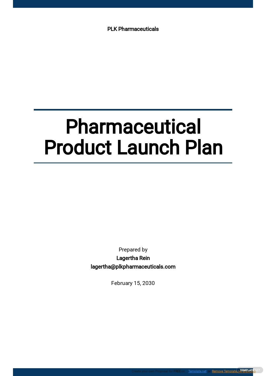 Pharmaceutical Product Launch Plan Template.jpe