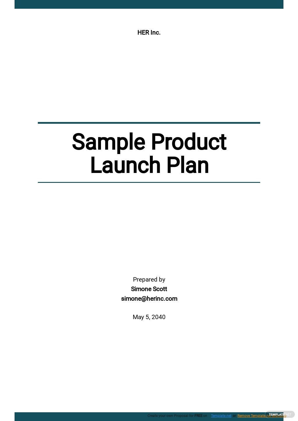 Free Sample Product Launch Plan Template.jpe