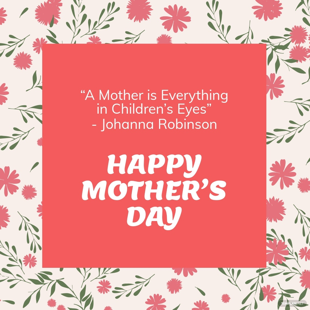 FREE Mother's Day Quote Instagram Post Template