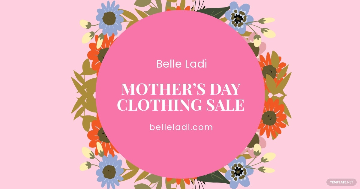 FREE Mother's Day Sale Facebook Post Template