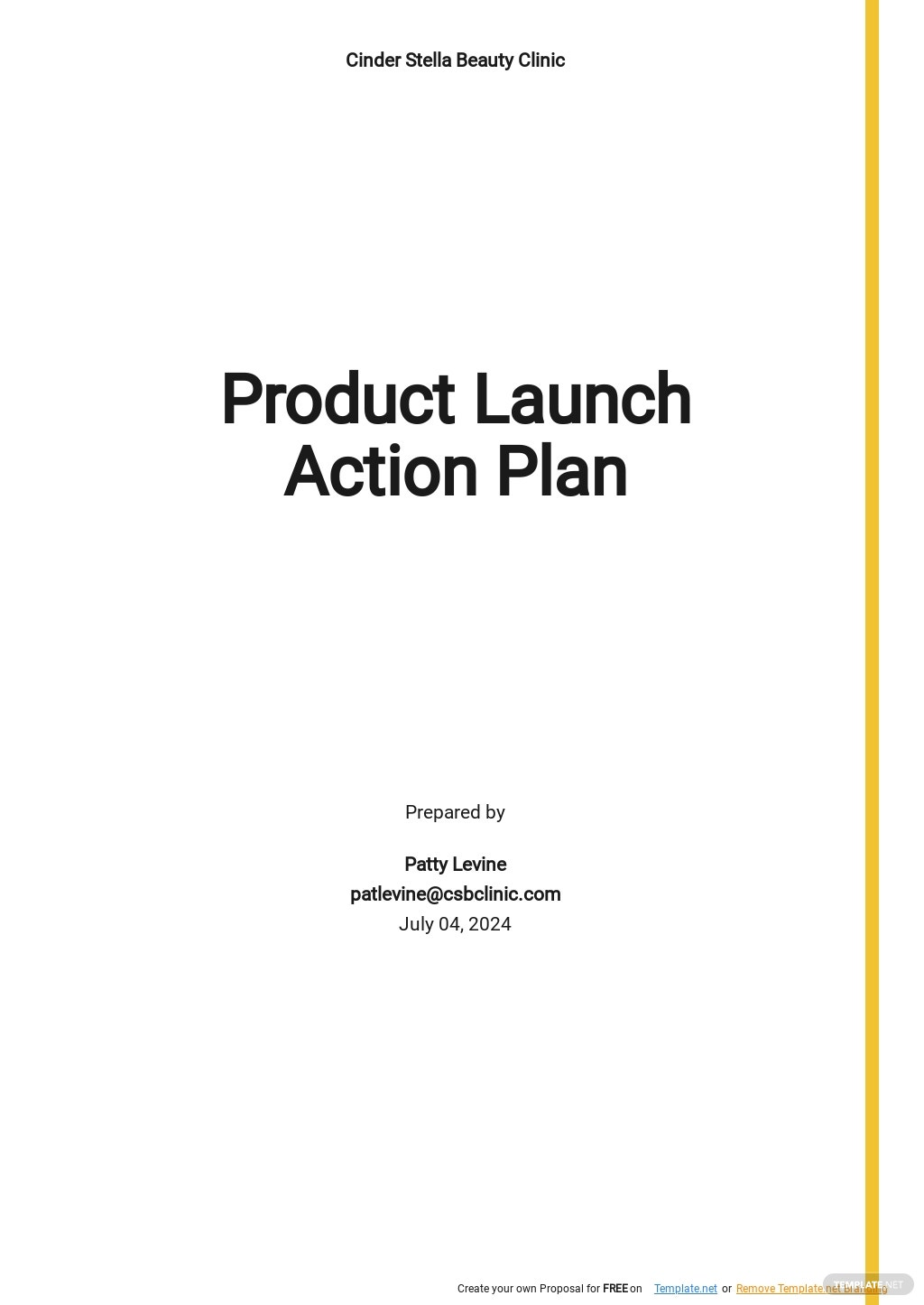 Product Launch Action Plan Template.jpe