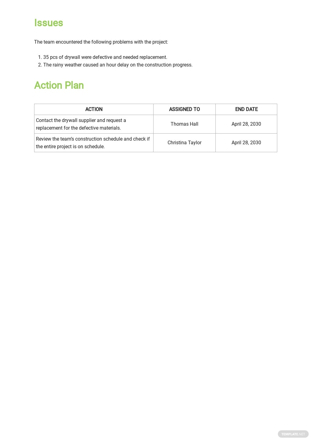 Free Contractor Daily Construction Report Template 3.jpe