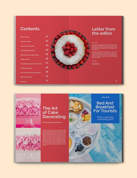 Magazine Style Portfolio Template Format